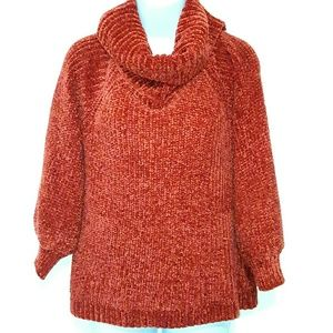 Pink Rose Sweaters - Womens M Pink Rose rustic tangerine knot sweater